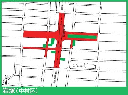 東山線岩塚駅付近の駐輪禁止エリア