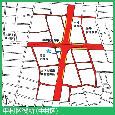 桜通線中村区役所駅付近の駐輪禁止エリア