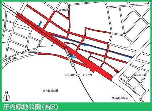 鶴舞線庄内緑地公園駅付近の駐輪禁止エリア